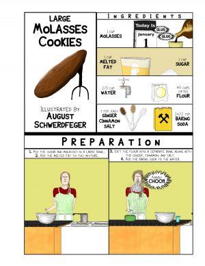 Large Molasses Cookies - 1